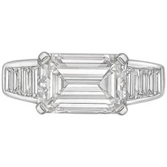 3.00 Carat Emerald-Cut Diamond East-West Ring 'F/VVS2'
