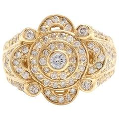 3.00 Carat Natural Diamond 14 Karat Solid Yellow Gold Men's Ring