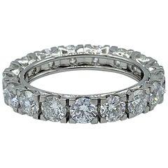 3.00 Carat White Diamond Platinum Band Eternity Ring Made in Italy