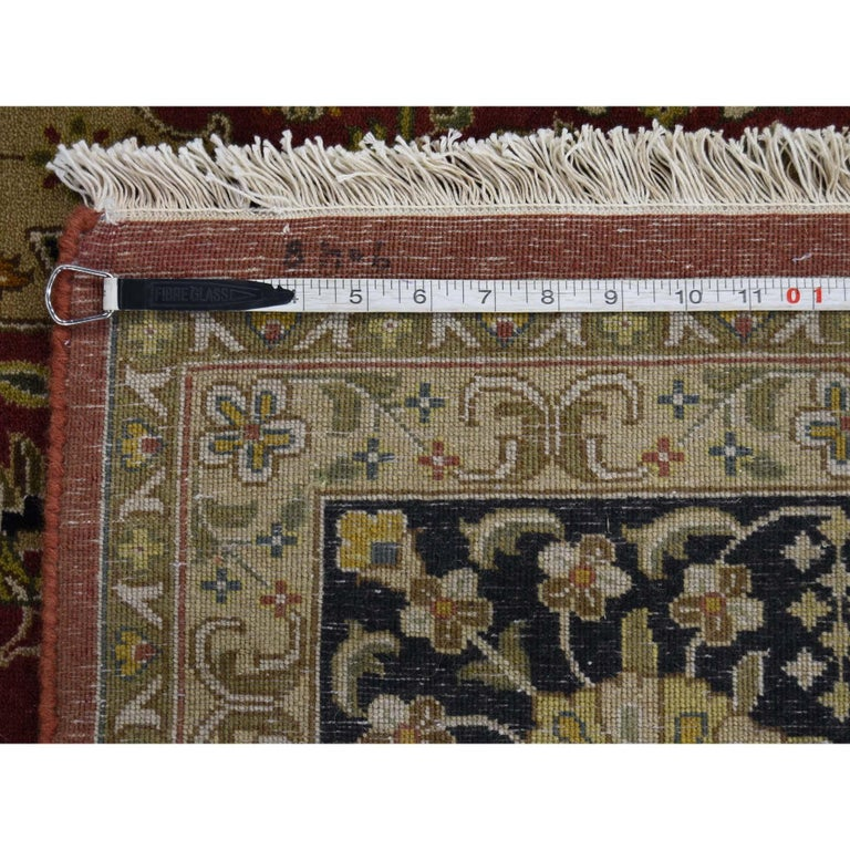 300 Kpsi Kashan Revival New Zealand Wool Hand Knotted Oriental Rug For Sale 6