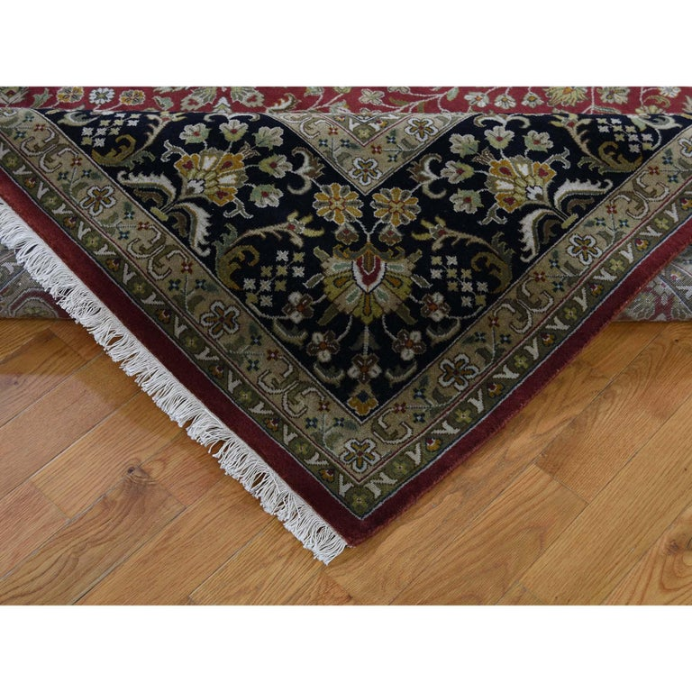 300 Kpsi Kashan Revival New Zealand Wool Hand Knotted Oriental Rug For Sale 1
