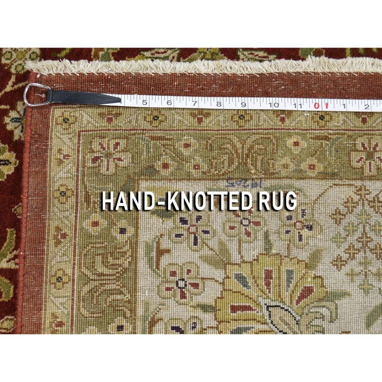 300 Kpsi Kashan Revival New Zealand Wool Hand Knotted Oriental Rug For Sale 5