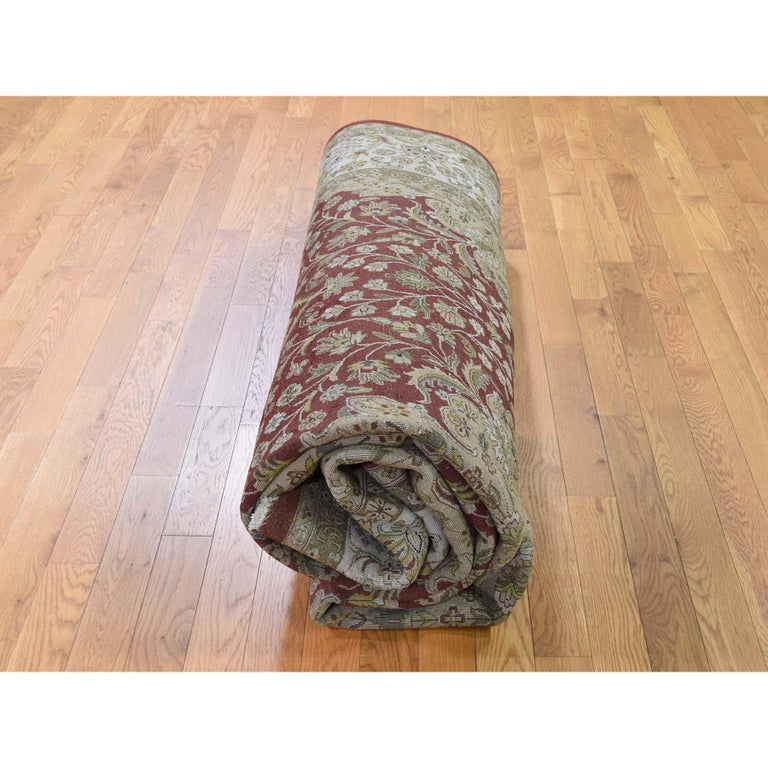 300 Kpsi Kashan Revival New Zealand Wool Hand Knotted Oriental Rug For Sale 3