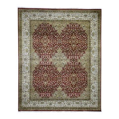 300 Kpsi Kashan Revival New Zealand Wool Hand Knotted Oriental Rug