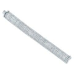 30.00 Carat Diamond Chevron Bracelet