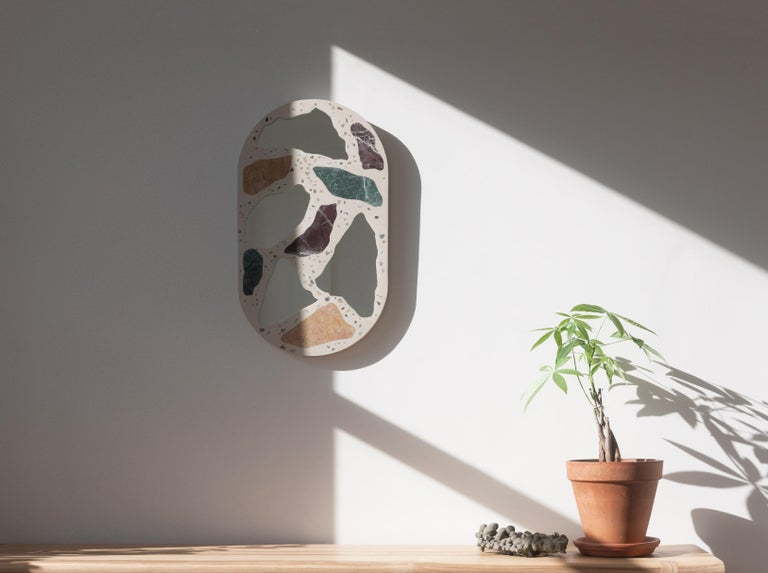 Modern 3000 Mirror by Trueing, Concrete and Marble For Sale