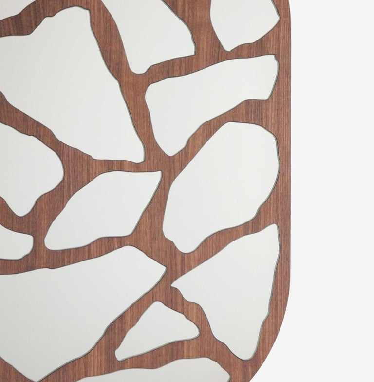 Modern #3000 Mirror in Walnut by Trueing For Sale