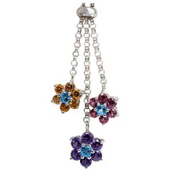 3.00ct natural amethyst citrine topaz tourmaline clusters necklace bolo 14kt