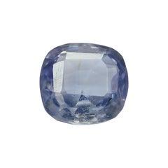 3.01 Carat Cushion Natural Kashmiri GRS Certified Pastel Blue Sapphire