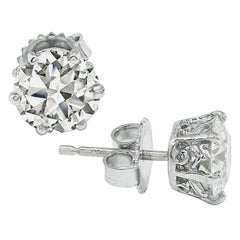 3.01 Carat Diamond Stud Earrings