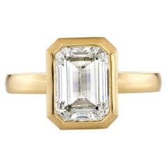 3.01 Carat GIA Certified Emerald Cut Diamond Mounted in an 18 Karat Gold Ring