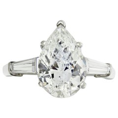 3.01 Carat GIA Certified Pear Shape Engagement Ring
