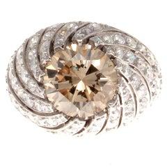 3.01 Carat Natural Fancy Colored Diamond Platinum Ring