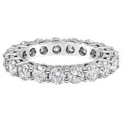 3.01 Carat Round Diamond Eternity Wedding Band
