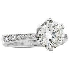 3.01 Carat Solitaire Brilliant Cut Diamond Engagement Ring