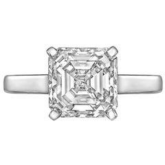 3.01 Carat Square Emerald-Cut Diamond Ring 'J/VS1'