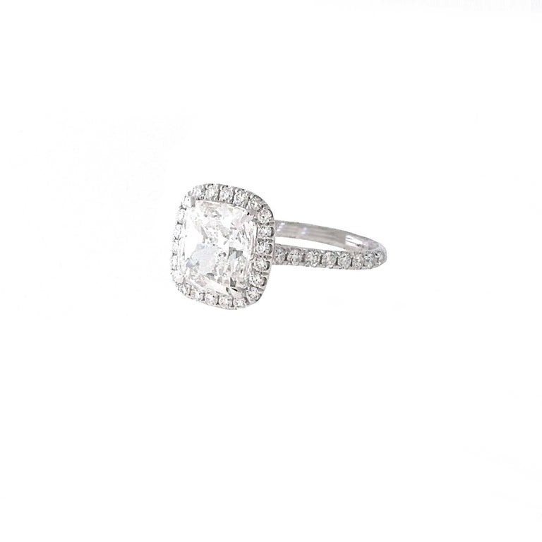 Hand made gorgeous 3.01 GIA Certified Cushion Cut Diamond Engagement ring. This ring will get you the guaranteed