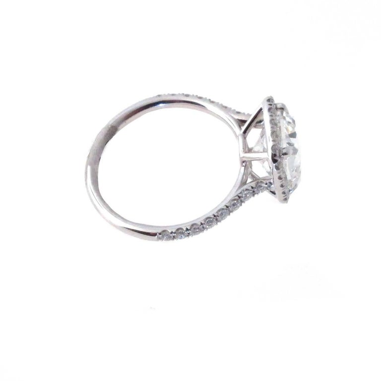 3.01 GIA Certified G-VVS1 Cushion Diamond Halo Engagement Ring. Retail $112,000 In New Condition For Sale In Beverly Hills, CA