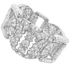 30.2 Carat Diamond and Platinum Bracelet
