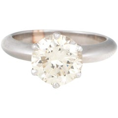 3.02 Carat Round Diamond Engagement Ring