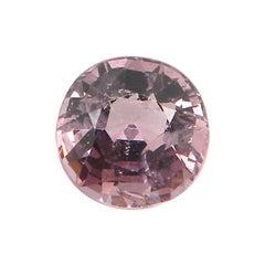 3.02 Carat Unheated Round-Cut Burmese Pink-Purple Spinel