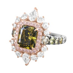 3.02 GIA Certified Radiant Diamond Antique Ring