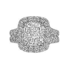 3.03 Carat Cushion-Cut Diamond Ring 'F/SI1'
