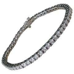 3.03 carat Diamond Tennis Bracelet in 18k White Gold - Substantial Box Setting
