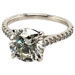 3.04 Carat Diamond Engagement Ring Platinum