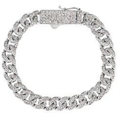 3.05 Carat Natural Diamond Bracelet G SI 14 Karat White Gold