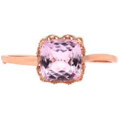 30.65 Carat Cushion Cut Kunzite Bangle