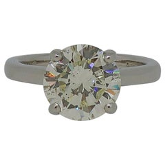3.06ct Brilliant Cut Diamond Solitaire Ring Platinum