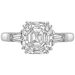 3.09 Carat Asscher-Cut Diamond Ring 'G/VVS2'