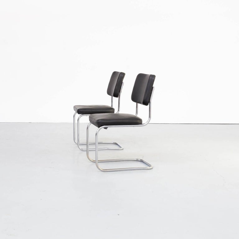 Mid-Century Modern 30s Mart Stam Cantilever Chair for Mauser Waldeck Set/2 For Sale