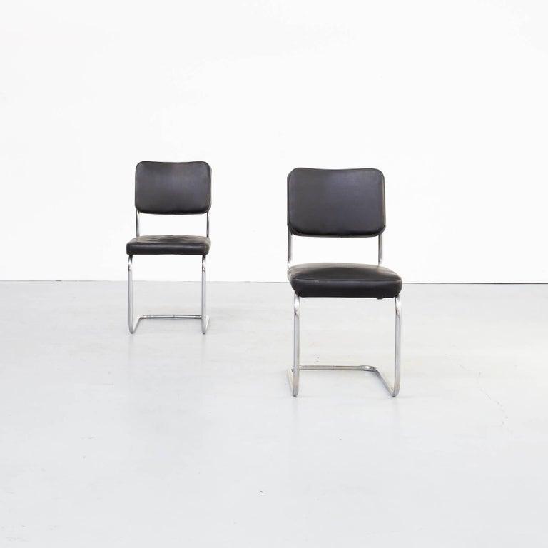 German 30s Mart Stam Cantilever Chair for Mauser Waldeck Set/2 For Sale