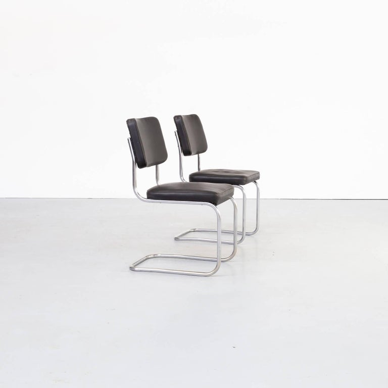 30s Mart Stam Cantilever Chair for Mauser Waldeck Set/2 In Good Condition For Sale In Amstelveen, Noord