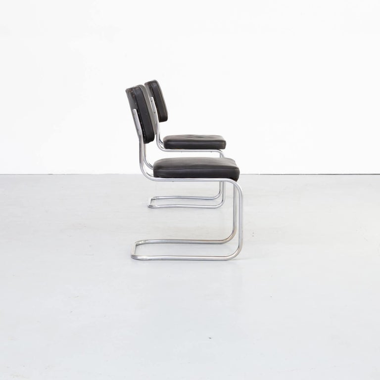 20th Century 30s Mart Stam Cantilever Chair for Mauser Waldeck Set/2 For Sale