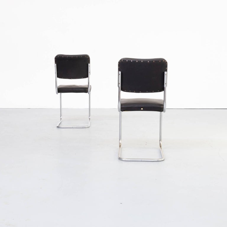 Metal 30s Mart Stam Cantilever Chair for Mauser Waldeck Set/2 For Sale