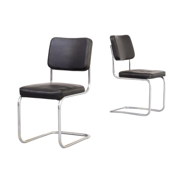 30s Mart Stam Cantilever Chair for Mauser Waldeck Set/2 For Sale