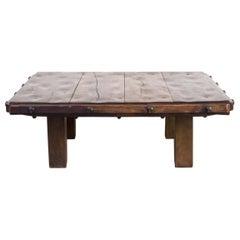 1930s Massive Oak Coffee Table