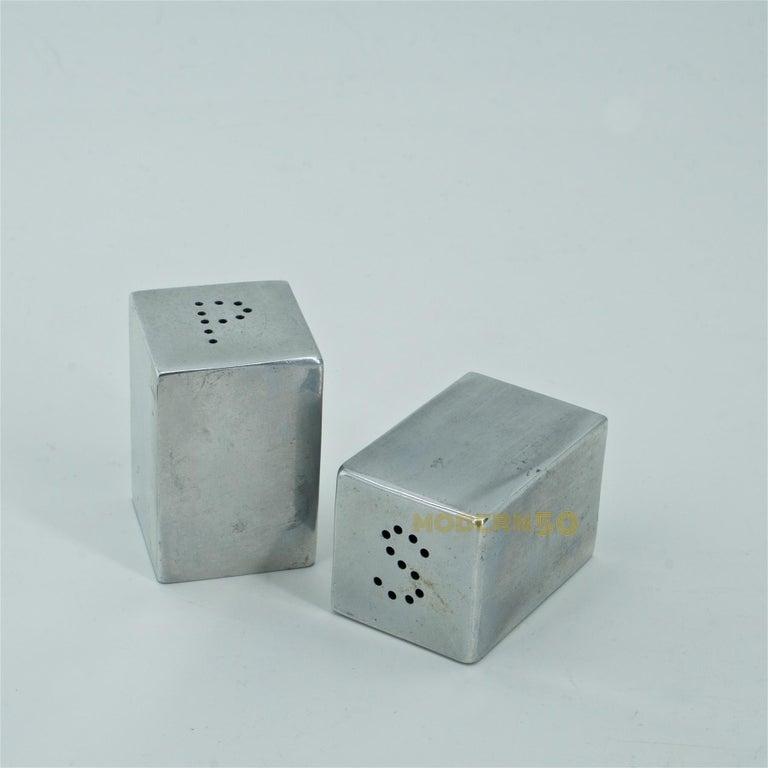 American Painter Charles Sheeler designed Salt Pepper S+P Shaker Art Deco Machine Age For Sale
