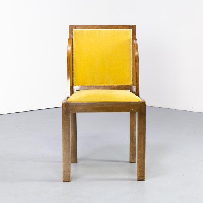 1930s Rare and Beautiful Art Deco Dining Chair, Set of 6 5