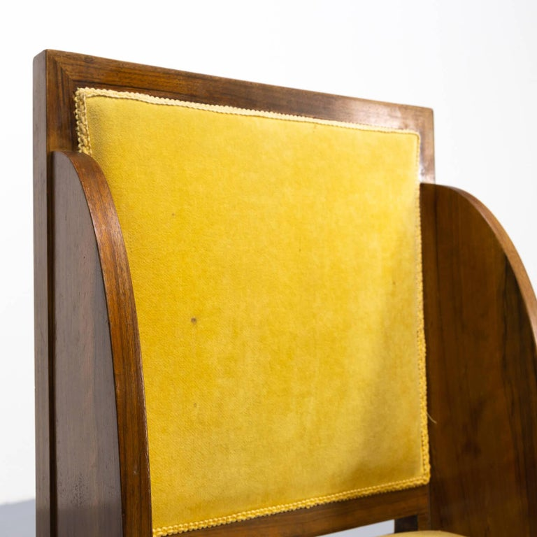 1930s Rare and Beautiful Art Deco Dining Chair, Set of 6 7