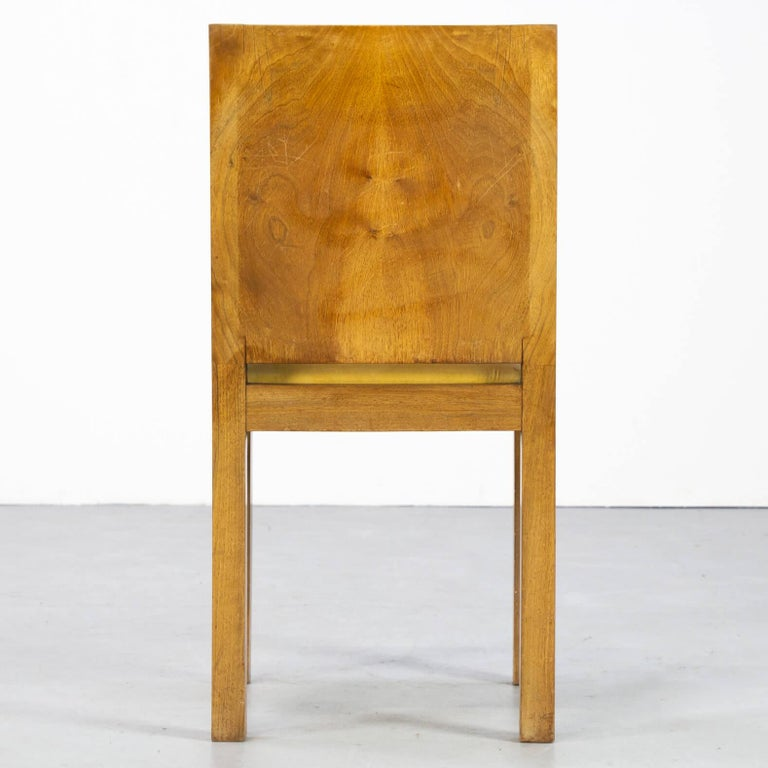 1930s Rare and Beautiful Art Deco Dining Chair, Set of 6 8