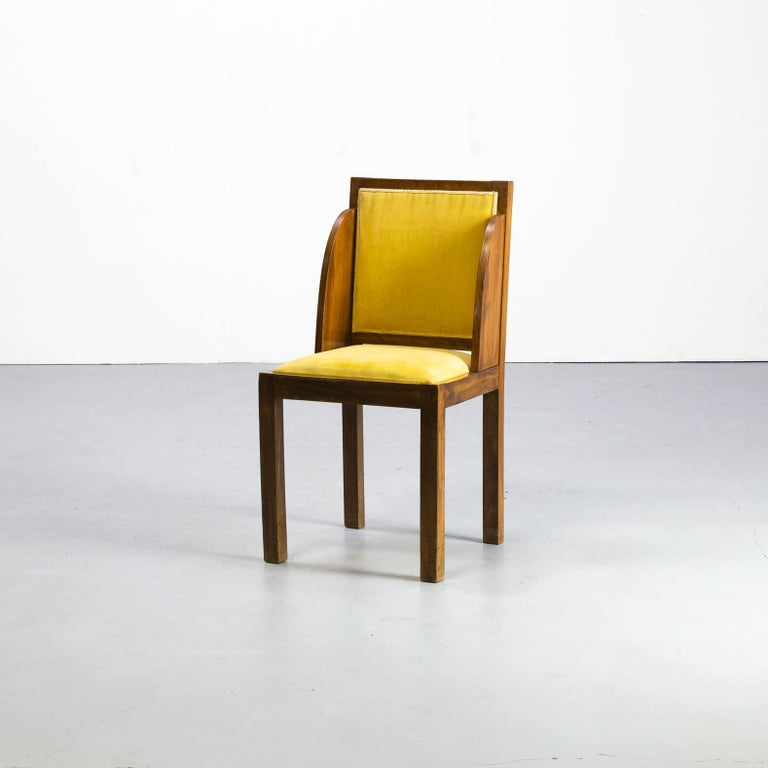 1930s Rare and Beautiful Art Deco Dining Chair, Set of 6 In Good Condition In Amstelveen, Noord