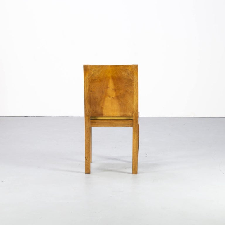 1930s Rare and Beautiful Art Deco Dining Chair, Set of 6 2