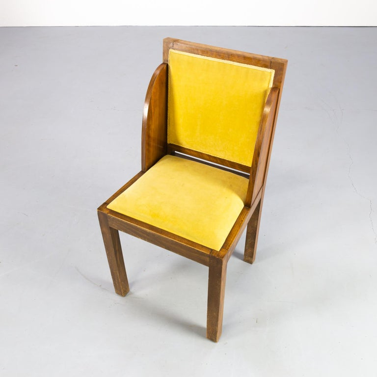 1930s Rare and Beautiful Art Deco Dining Chair, Set of 6 3