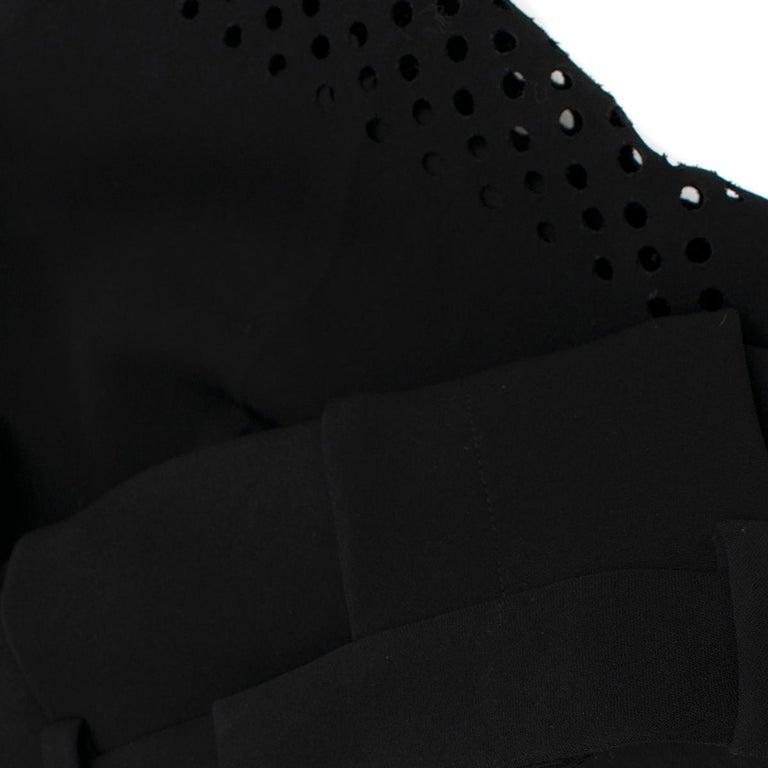 3.1 Phillip Lim Black Lasercut Bermuda Shorts 0 US For Sale 3
