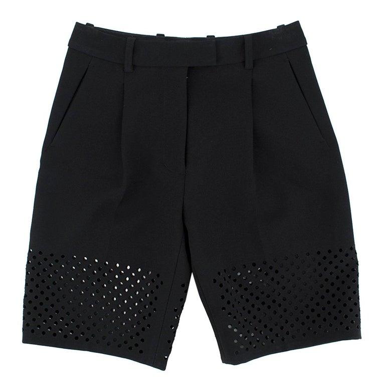 3.1 Phillip Lim Black Lasercut Bermuda Shorts 0 US For Sale