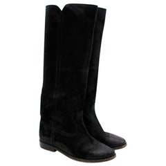 3.1 Phillip Lim Black Leather Heeled Boots - Size 38